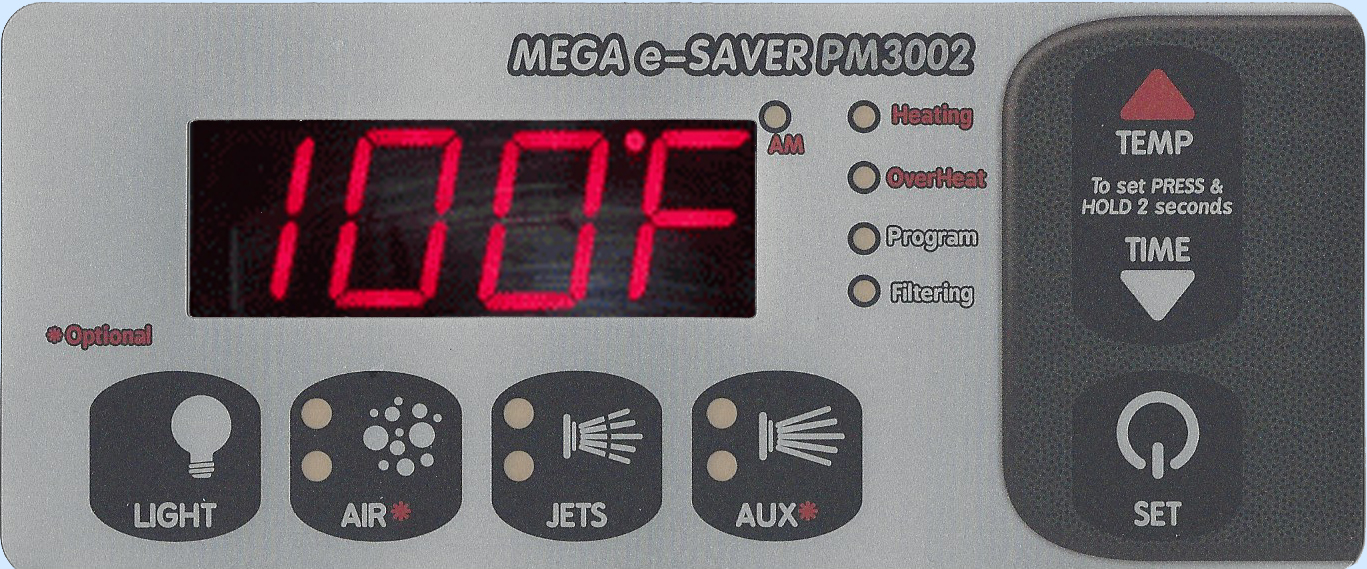 PM3002 Digital Spa Side Control